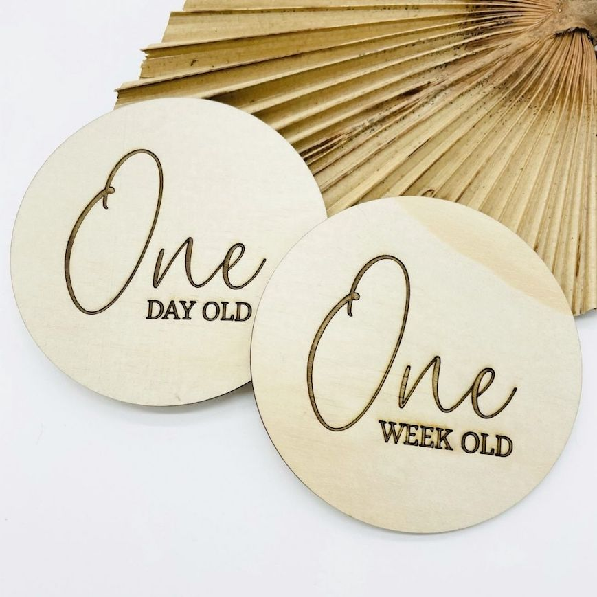 Wooden Milestone Discs - Timber Tinkers |  - Timber Tinkers