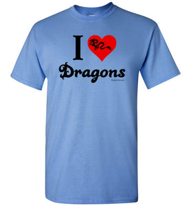 I Love Dragons - Light Graphic - Men's