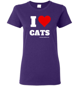 I Love Cats - Dark - Women's T-Shirt