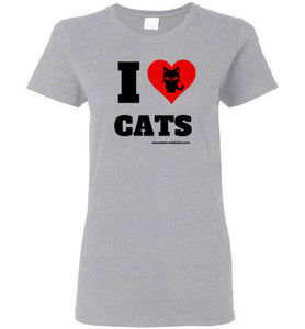 I Love Cats - Light Graphic - Women's T-Shirt