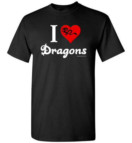 I Love Dragons - Dark Graphic - Men's T-Shirt