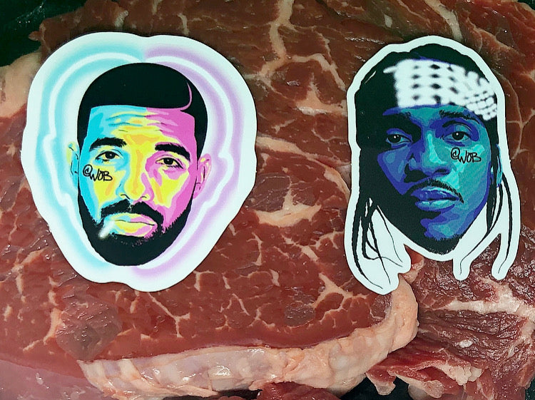 What's The Beef (Drake v Pusha) Limited Edition Sticker Collection