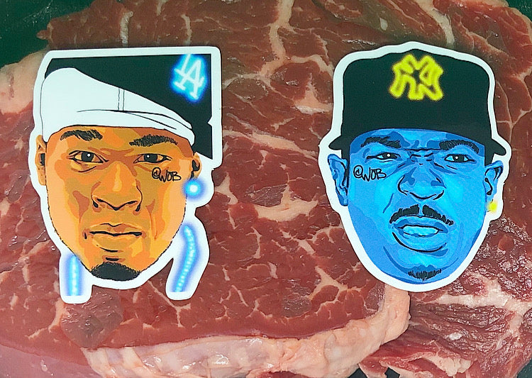 What's The Beef (Ja v 50) Limited Edition Sticker Collection