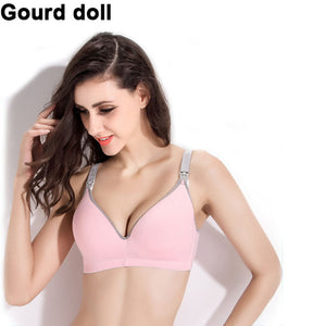 Gourd doll Breastfeeding cotton Maternity Nursing Bra sleep bras for nursing pregnant women soutien gorge allaitement clothing