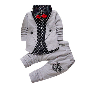 Kid Baby Boy Gentry Clothes Set Formal Party Christening Wedding Tuxedo Bow Suit Children 's gentleman' s suit Drop ship