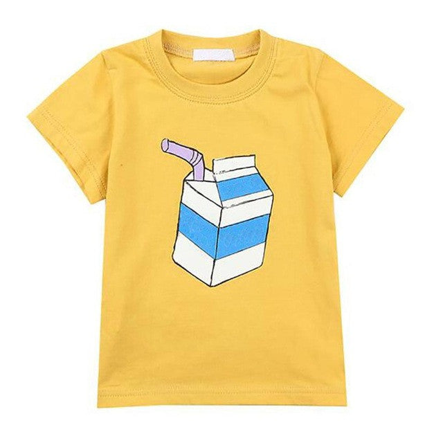 Summer Children Boys T-shirt Cartoon Pattern Short Sleeve Tops Kids T-Shirt Tees boys clothes Drop ship
