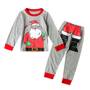 2017 Autumn Kids Baby Boys Girls Christmas Santa Claus Print Tops TShirt + Pants Outfits Set Toddler Clothes Children Clothing