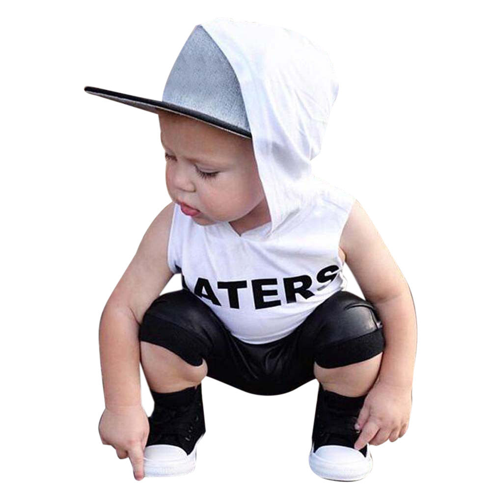 Summer Casual 2017 Infant Cotton Suits Baby Baby Girls Clothing Set Toddler Kids Baby Boys Tops Hoodie T-shirt+ Shorts Pants