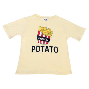 New 2017 boy's t shirt  Summer Cotton short-sleeved Kids Boys Potato Printing T-Shirt Children Clothes Tee boys Costume Tops