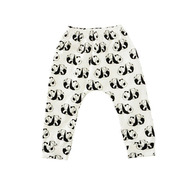 2017 Fashion Children Clothing Kids Toddler Baby Boy Girl Cute Cartoon Animal Print Harem Long Pants Trousers Bottom Leggings