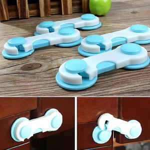 Baby Care 6/10pcs Set Door Drawers Wardrobe Todder Kids Baby Safety Plastic Lock Blue Edge & Corner Guards