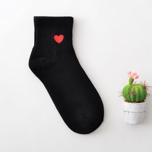 Women Size New Cotton Short Socks Killer Cupid Moustache Milk Cola Leon Clover Love Smile Face Mathilda Rose Tongue Dropshipping