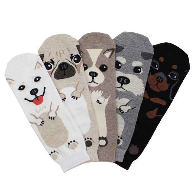 Adult Size Pets Crew Socks Ankle Short Puppy Doberman Corgi Dachshund Sausage Dog Pug Doge Papillon Cute Collie Husky Schnauzer