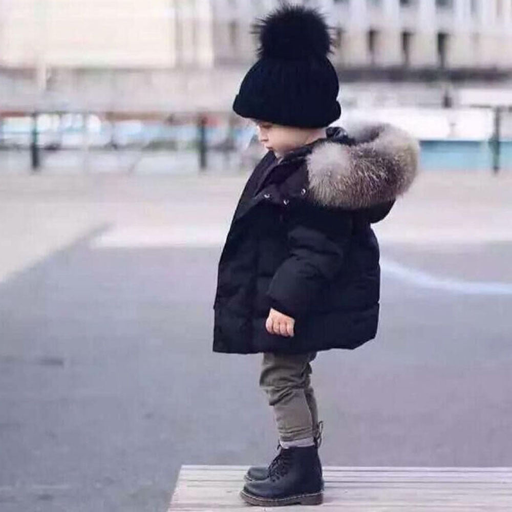 Baby Girl Boy Winter Cotton Hooded Coat Jacket Thick Warm Zipper Outwear Clothes