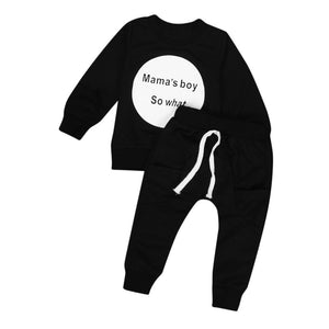Toddler Kids Baby Girls Boys Outfit Clothes Long Sleeve T-shirt Tops+Pants 1Set