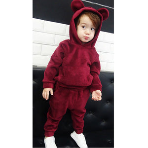 LZH Children Clothing 2017 Autumn Winter Boys Clothes Velvet Hoodies+Pant 2pcs Kids Tracksuit Sport Suit For Girls Clothing Sets