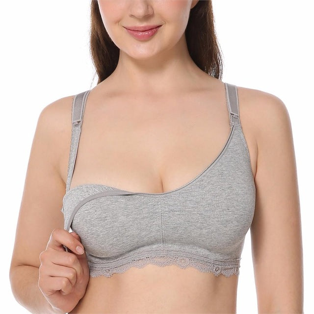 Ladies' Maternity Wireless Full Coverage Breastfeeding Nursing Bra 34-40 B-DD