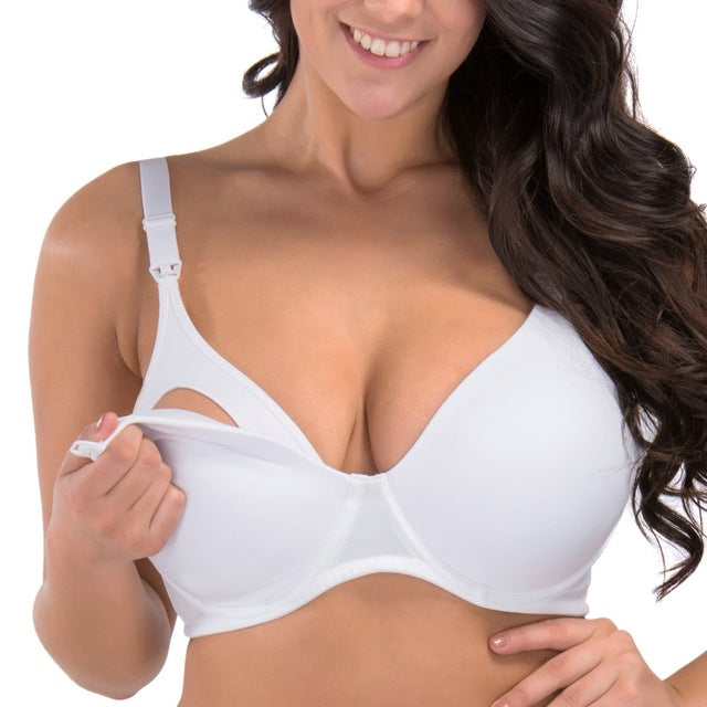 Breastfeeding Padded Underwire Nursing Bra with Full Sling 32-40 B C D DD