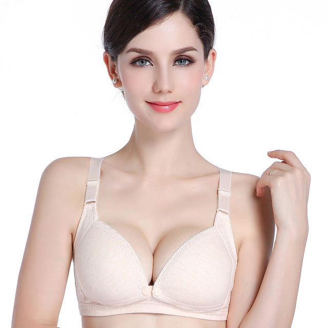 ZTOV Cotton Breastfeeding Maternity Bra Nursing Bras for pregnant women front opening Pregnancy feeding bra underwear clothing