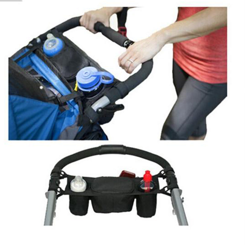 Baby Stroller Organizer Baby Carriage Prams Bottle Cup Holder Buggy Stroller Accessories Wheelchair Bag Wholesale