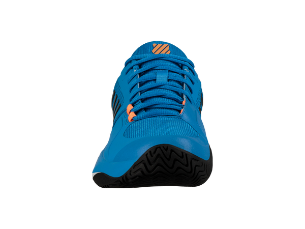 K-Swiss Aero Court Men's Tennis Shoe (Brilliant Blue/Neon Orange) - RacquetGuys