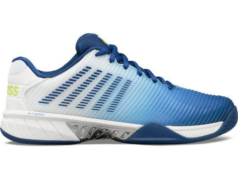 K-Swiss Hypercourt Express 2 Men's Tennis Shoe (White/Blue) - RacquetGuys