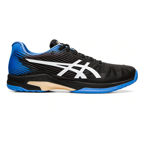 Asics Solution Speed FF Men's Tennis Shoe (Black/Blue) - RacquetGuys