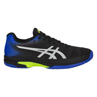 Asics Solution Speed FF Mens Tennis Shoe (Black/Blue)
