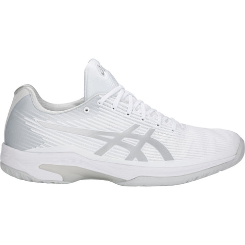 Asics Solution Speed FF Men's Tennis Shoe (White/Silver) - RacquetGuys