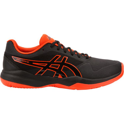 Asics Gel Game 7 Men's Tennis Shoe (Black/Orange)