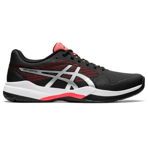 Asics Gel Game 7 Men's Tennis Shoe (Black/Coral) - RacquetGuys