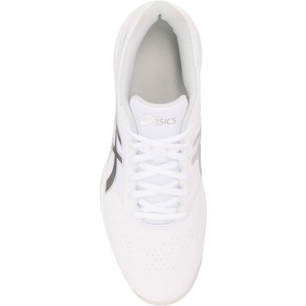 Asics Gel Game 7 Mens Tennis Shoe (White/Silver)