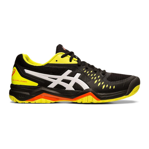Asics Gel Challenger 12 Men's Tennis Shoe (Black/Sour Yuzu)