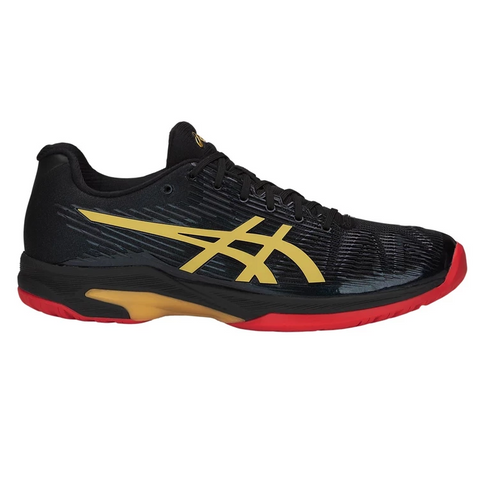 Asics Solution Speed FF Ltd Men's Tennis Shoe (Black/Gold)