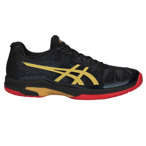 Asics Solution Speed FF Ltd Women's Tennis Shoe (Black/Gold) - RacquetGuys