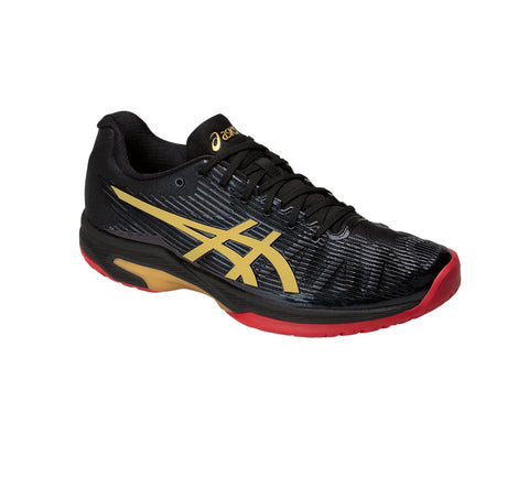 Asics Solution Speed FF Ltd Womens Tennis Shoe (Black/Gold) - RacquetGuys