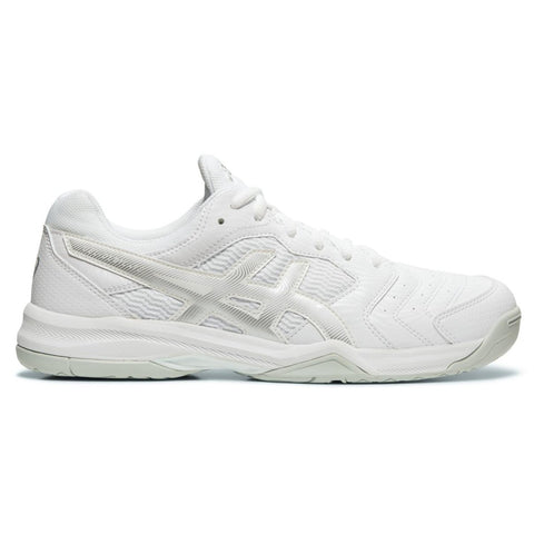 Asics Gel Dedicate 6 Men's Tennis Shoe (White/Silver) - RacquetGuys