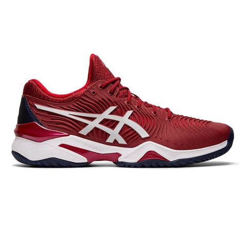 Asics Court FF 2 Novak Men's Tennis Shoe (Burgundy/White) - RacquetGuys