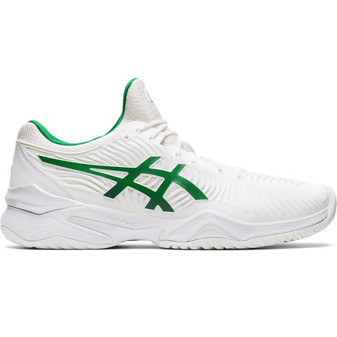 Asics Court FF 2 Novak Men's Tennis Shoe (White/Green) - RacquetGuys