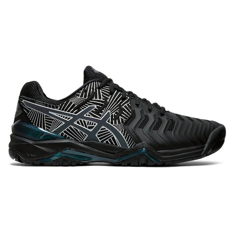 Asics Gel Resolution 7 Lite-Show Men's Tennis Shoe (Black/Silver) - RacquetGuys