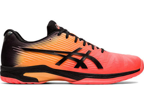 Asics Solution Speed FF LE Men's Tennis Shoe (Coral/Black) - RacquetGuys