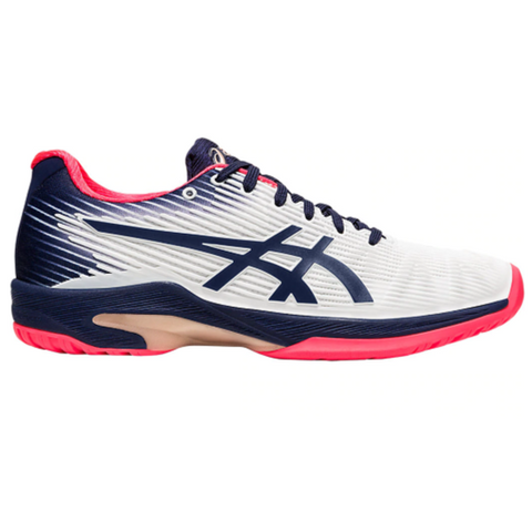 Asics Solution Speed FF Women's Tennis Shoe (White/Blue) - RacquetGuys