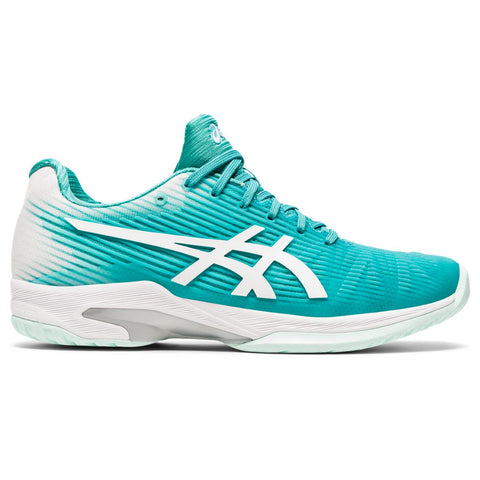 Asics Solution Speed FF Women's Tennis Shoe (Cyan/White) - RacquetGuys