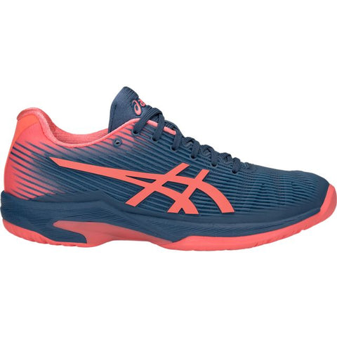Asics Solution Speed FF Womens Tennis Shoe (Blue/Pink) - RacquetGuys