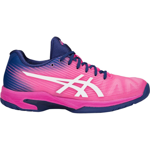 Asics Solution Speed FF Womens Tennis Shoe (Pink Glo/White) - RacquetGuys