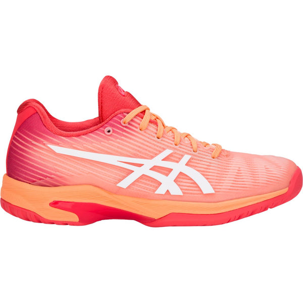 Asics Solution Speed FF Womens Tennis Shoe (Mojave/White) - RacquetGuys