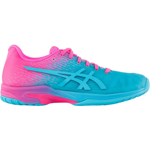 Asics Solution Speed FF Ltd Womens Tennis Shoe (Aquarium/Pink) - RacquetGuys