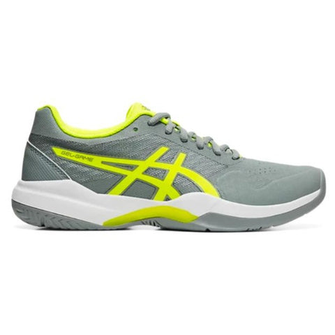 Asics Gel Game 7 Women's Tennis Shoe (Stone Grey/Safety Yellow) - RacquetGuys