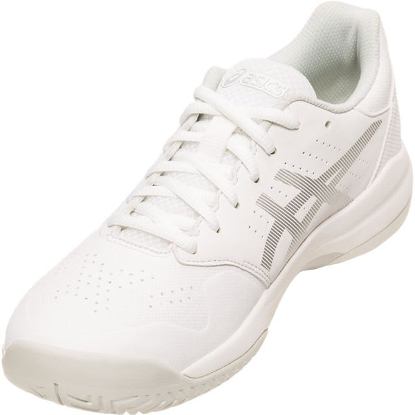 Asics Gel Game 7 Womens Tennis Shoe (White/Silver)