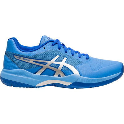 Asics Gel Game 7 Womens Tennis Shoe (Blue/Silver)